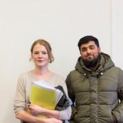 Particia McManus and Muhhamed Patel Pic:Matthew Kirby