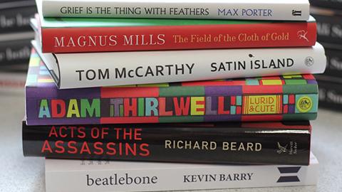 Pic: Shortlisted books for Goldsmiths Prize 2015. Credit: Goldsmiths University
