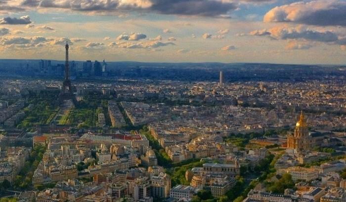 The Paris skyline from Montparnasse Tower.