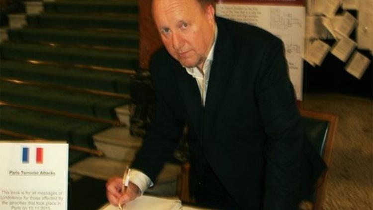 Croydon councillor, Tony Newman, signing the book of condolence. Pic Croydon Council