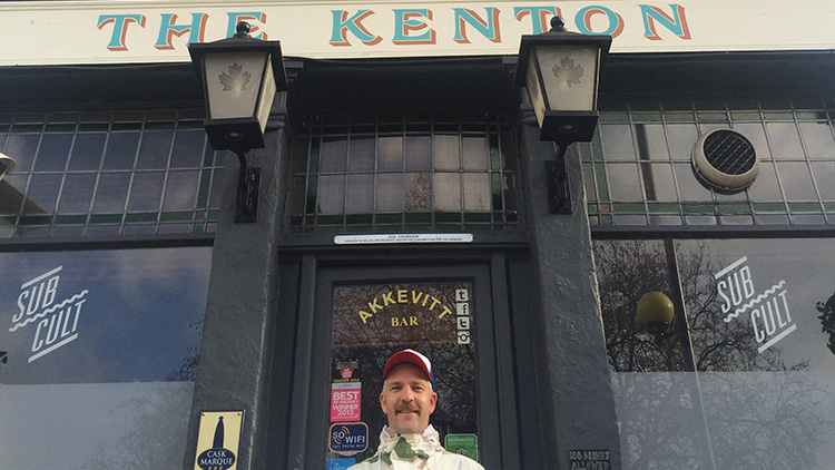 Egil Johansen outside his award winning pub, The Kenton. Pic Emmanuella Kwenorty