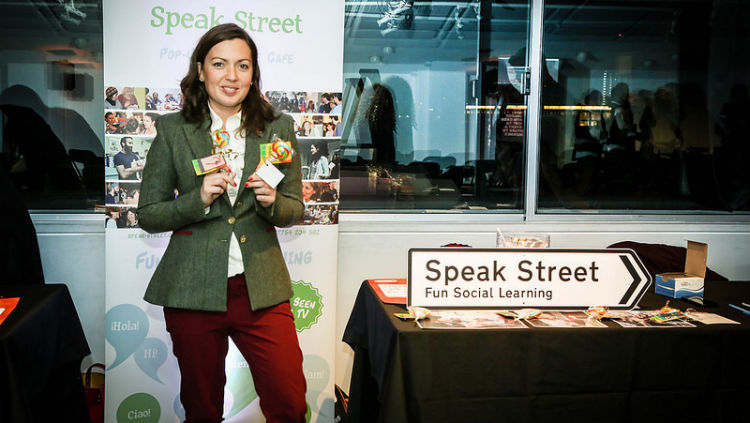 Speak Street took part in Dream Act Inspire and gave away linguistic lollipops, which included words that exist in other languages but do not exist in English