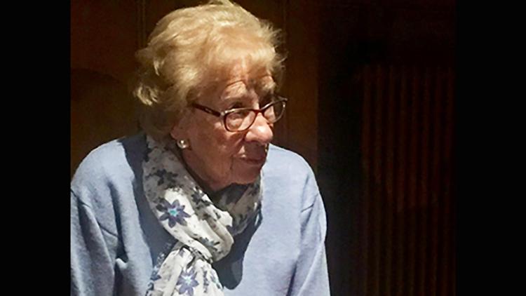 Eva Schloss in Croydon ahead of Holocaust Memorial Day. Pic: Alex Jackson