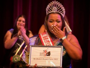 Katherine Henry during the Ms British Beauty Curve 2015 ceremony. Pic: Josh Elms Photography