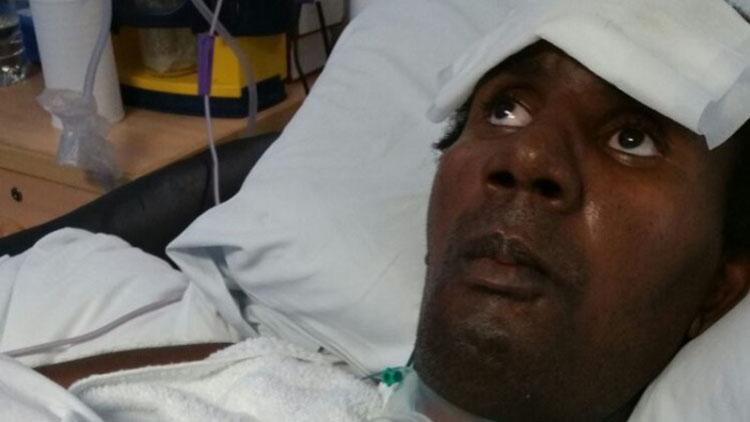 Mavin Couson in hospital. Pic: Met Police