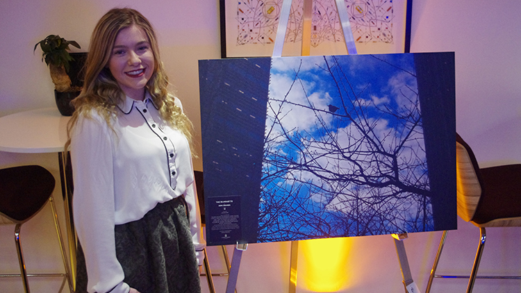 Winner of the 16 – 24 category was Demi Squires with 'The Silhouette.' Pic: Danielle Tatton