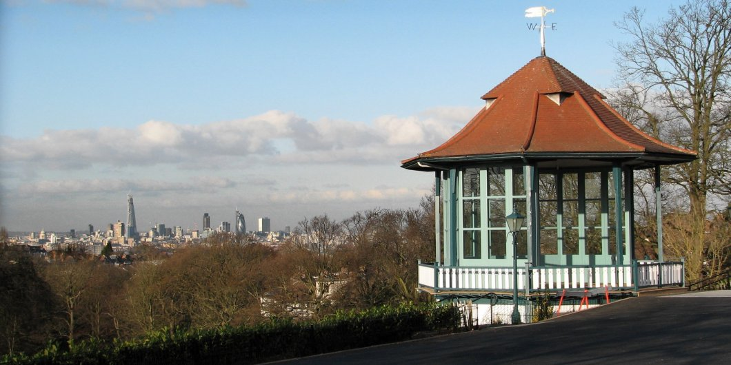 Horniman bandstand skyline. Pic: Wikimedia Commons