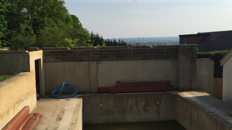 The wall at the far back that was apart of the indoor pool was 2.9m, it was 0.4m higher than the standard height of 2.5m enforced by the council. Pic: Shima Begum