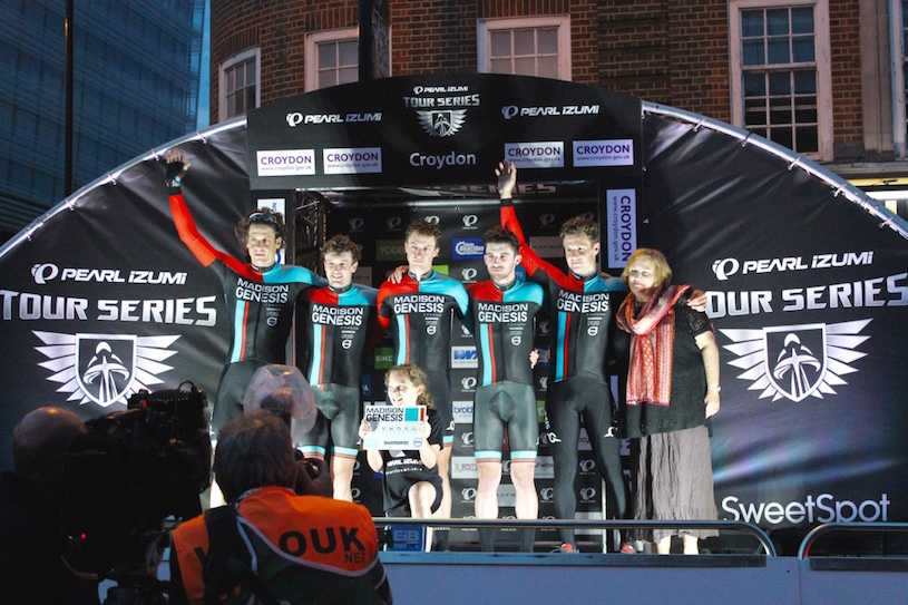 Alison Butler, Deputy Leader of Croydon Borough Council, presenting team winners Madison Genesis Pic: Nairomi Eriksson
