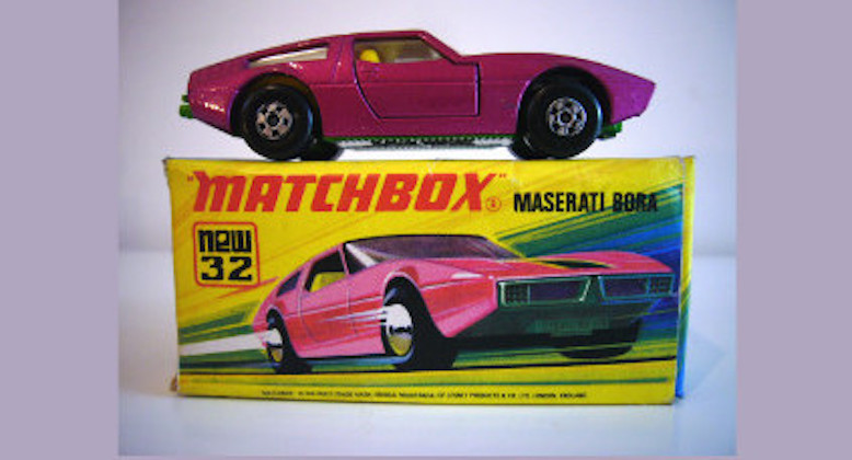 A Matchbox Maserati Bora toy car. Pic: Giles Chapman/Britain's Toy Car Wars