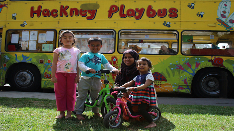 Hackney Playbus loses its wheels | Eastlondonlines