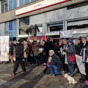 New Cross Gate Post Office Demonstration Pic:Niels Jakob Sondergaard Mye