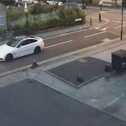 CCTV still of the white BMW shortly before shooting. Pic; Metropolitan Police