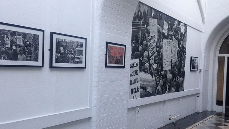 The 13 dead nothing said exhibition will be open to the public until May. Pic, Imogen Lodewyke
