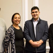 The four recipients of the Mayors New Cross Award. Pic, Goldsmiths, Univeristy of London
