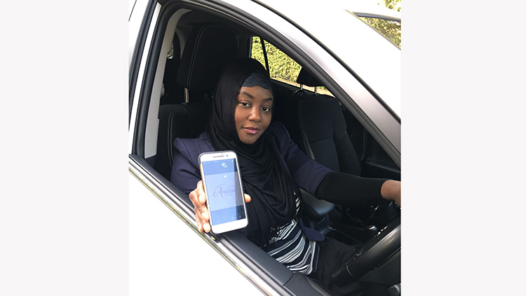Sade Agboola started the business after feeling uncomfortable in local minicabs Pic: Olivia Spring