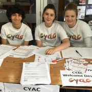Volunteers from the youth group Pic: CYAC