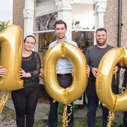 Albana (second from left) and her family are among 100 placed in new council housing, converted from private property purchased by Lewisham Homes. Pic: Lewisham Homes