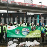 Big Clean Up volunteers in Quixley Street, Poplar. Pic: Tower Hamlets council