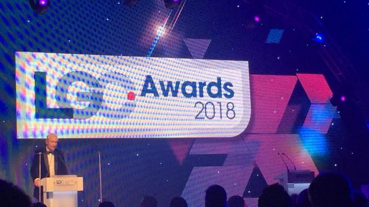 Journalist and television presenter Jon Snow presenting the LGC Awards 2018