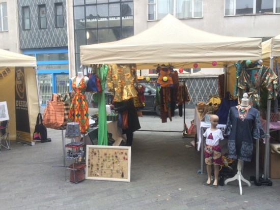 A stall selling unique clothes at Catford Food Market. Pic: William Taylor-Gammon