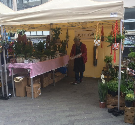 Williams working at the Potted stall at Catford market. Pic: William Taylor-Gammon
