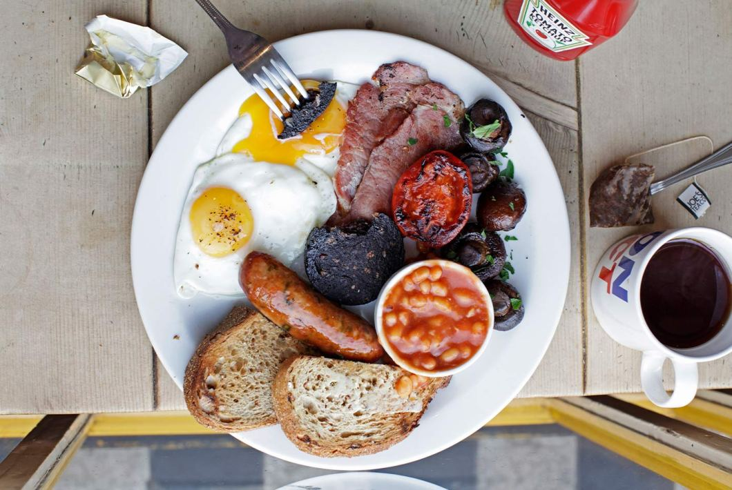 A full English at The Breakfast Club, Canary Wharf. Pic: The Breakfast Club