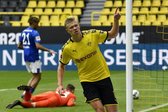 Erling Haaland scores as Borussia Dortmund thrash Schalke on ...