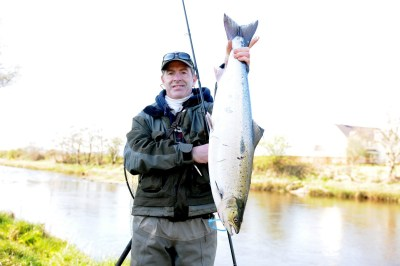 Aidan Connolly, Athlone, 10.5 lb Salmon, Ballylahan to Cloongee with worm 18th April 2015