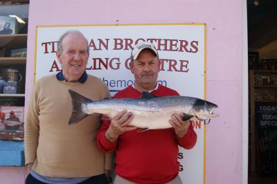 Mike Fitz, 11 3/4 lb Salmon, Ballylahan to Cloongee with spinner 7th April 2015