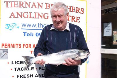 Mixie Clarke, Bohola, 15 lb Salmon, Ballylahan to Clongee with spinner 15th April 2015