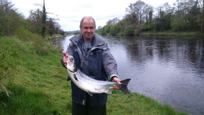 East Mayo Anglers Mr Verchere France 12lb Salmon Long Bank 4th June'15