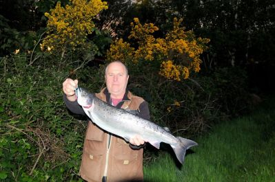 Eamon Mag Raibhiagh, N.Ireland, 10lb salmon caught on Foy's stretch using the worm