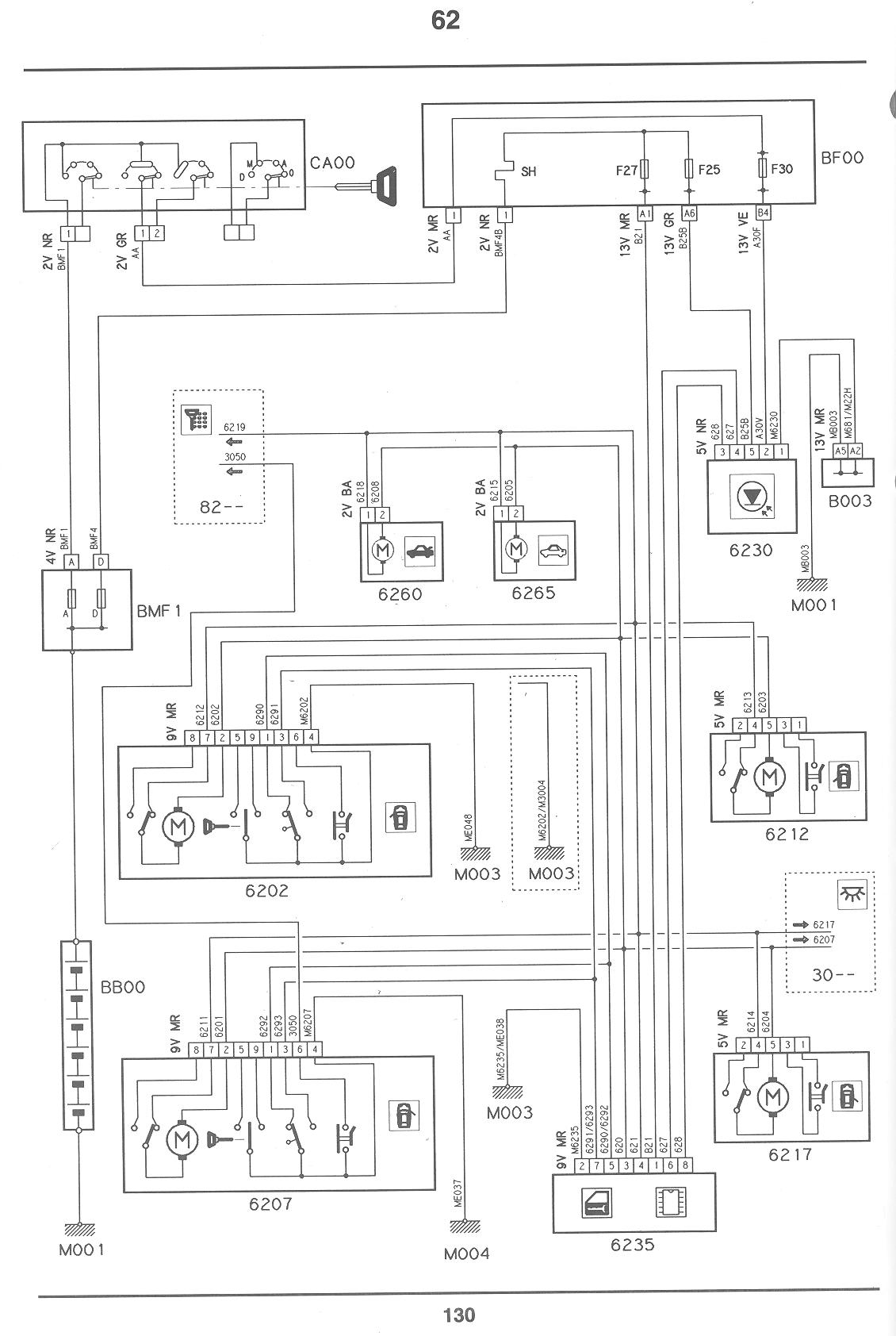 Citroen Xsara Central Locking Wiring Diagram