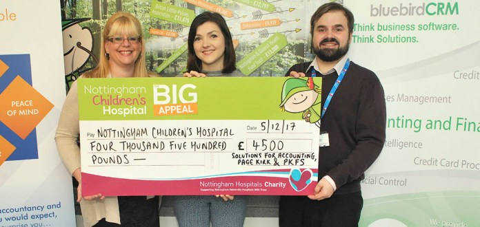 Software provider gives £4,500 to children's hospice