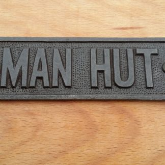 Man Hut Sign