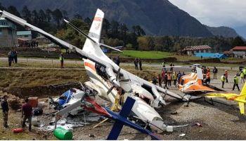 Helcopter crash lands near Kochi.