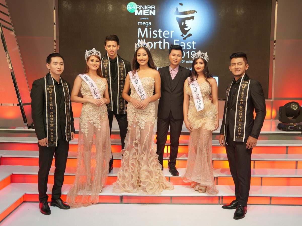Founder of Mega Entertainment Abhijit Singha with the winners of 17th Sunsilk Mega Miss North East and 10th Garnier Men Mega Mister North East. 01