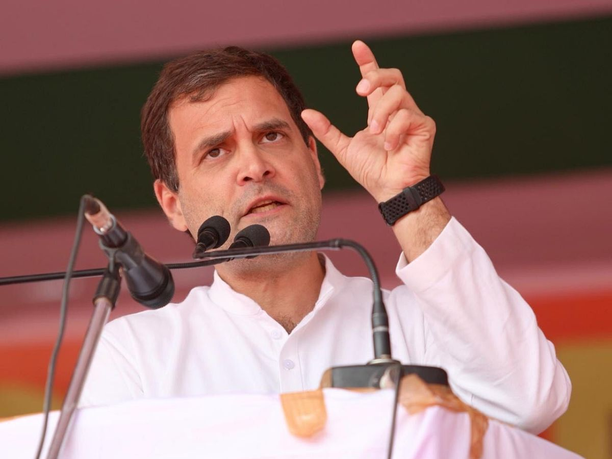 Rahul Gandhi reacts to poll results