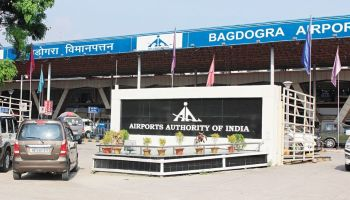 Supected Chinese nationals held at Bagdogra Airport in Siliguri