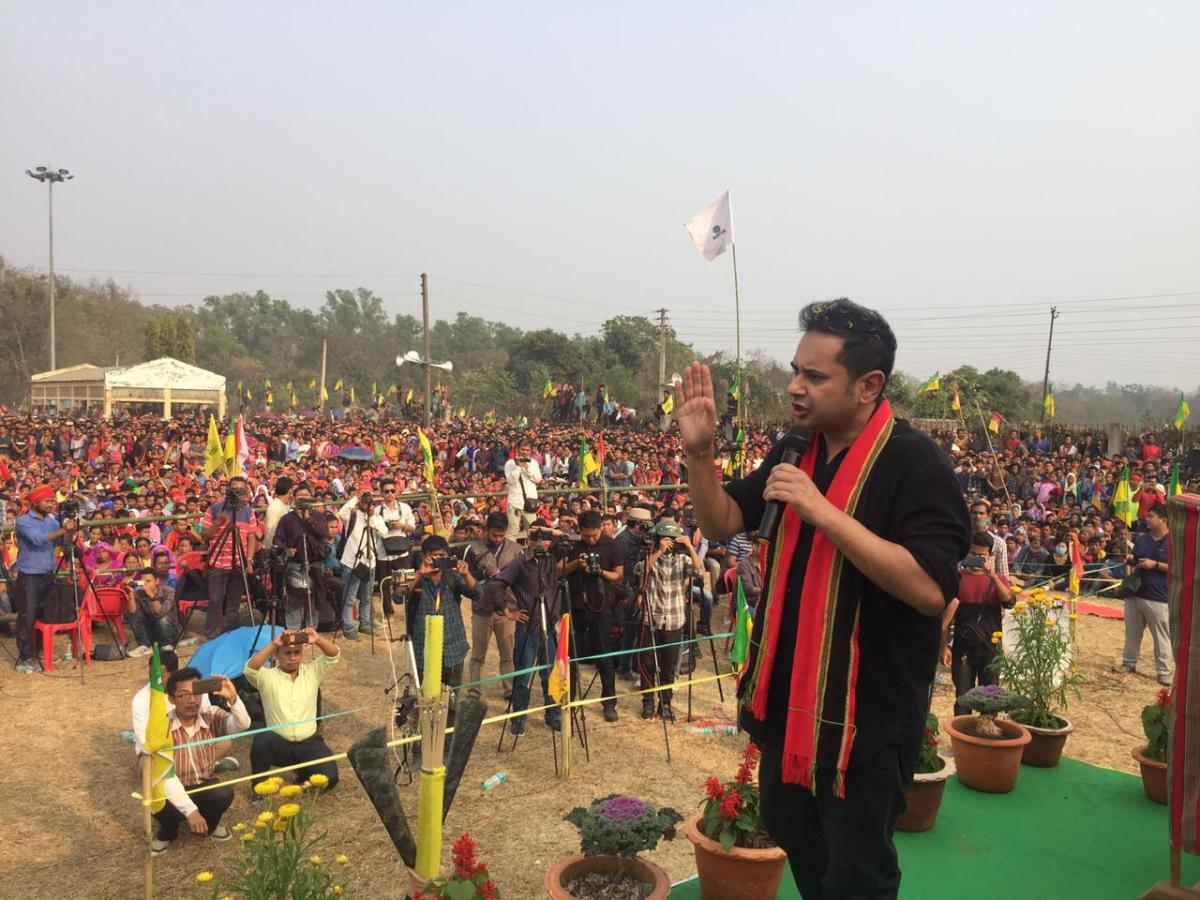 TIPRA chairman Pradyot Kishore Deb Barman