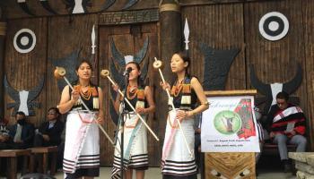 Pfuchazunuo from Kohima village performing a folk song