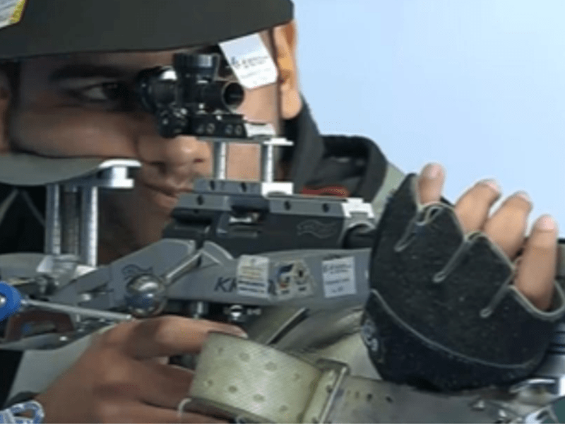 Aishwary Pratap Tomar wins gold in 50m rifle 3 positions