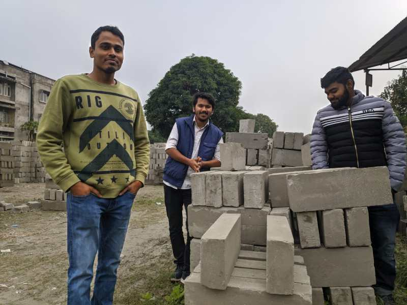 Rupam Choudhury, David Pratim Gogoi, and Mousum Talukdar, began their startup called Zerund Bricks