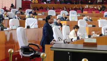 Conrad Sangma addressing the Meghalaya Assembly