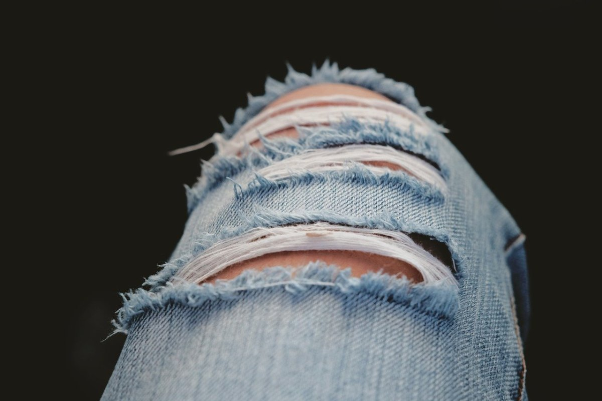 Ripped jeans have become a show-stopper