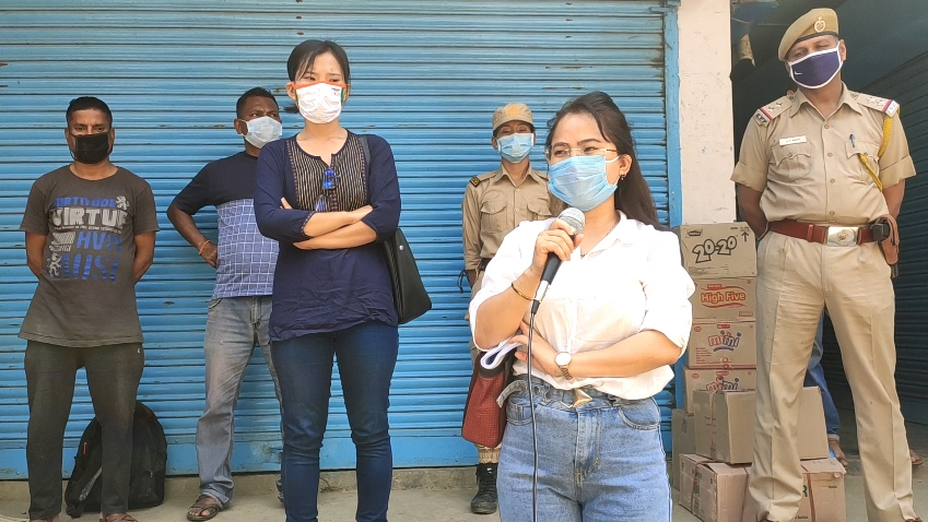 Don't sell goods to people without mask: Tirap administration