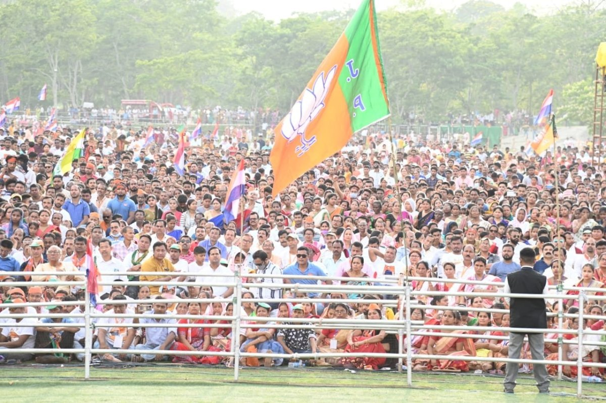 Assam polls: NDA ahead in 77 seats, trends indicate victory