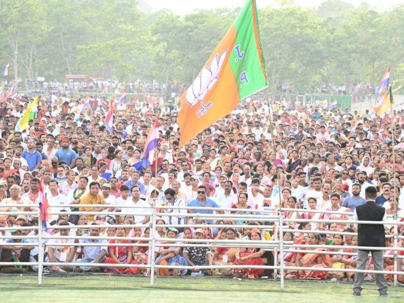 Assam polls: NDA ahead in 77 seats, trends indicate victory