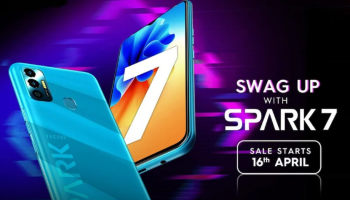 Tecno Spark 7 with dual rear cameras, selfie flash launched in India